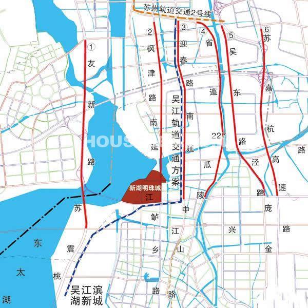 新湖明珠城楼盘区位图