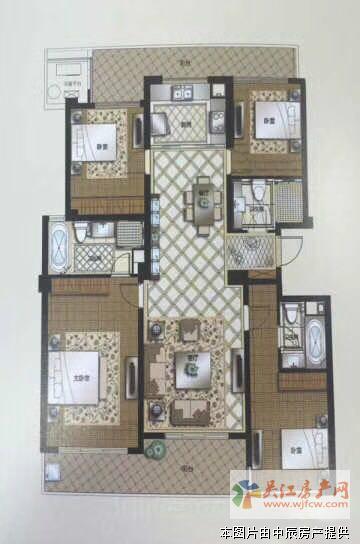 苏州湾一号 4室2厅3卫 179平方米 308万出售zy
